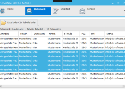 Newsletter versenden mit Excel
