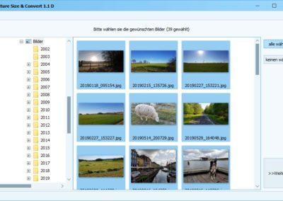 Fotos verkleinern - Picture Size Auswahl