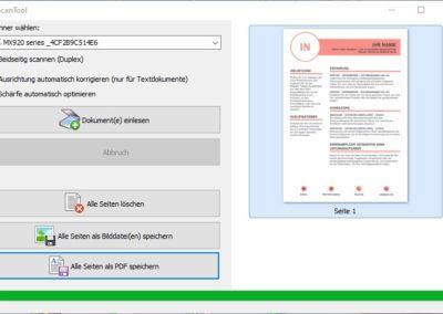 Scan Tool - Als PDF scannen