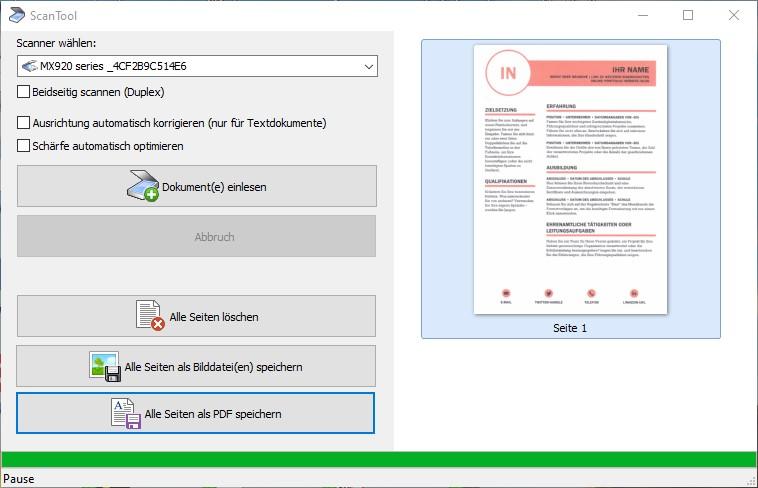 Scannen Als Pdf Mit Dem Scan Tool Ck Software