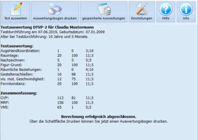 Testauswertung DTVP-2
