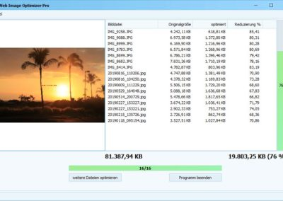 Web Image Optimizer Optimierung