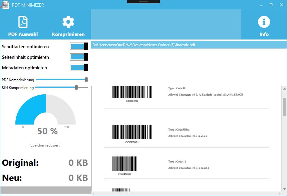 PDF Dateien verkleinern