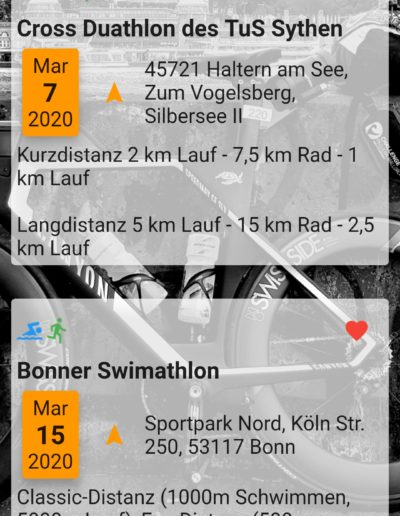 App Entwicklung - Triathlon Termine - Going Tough 3
