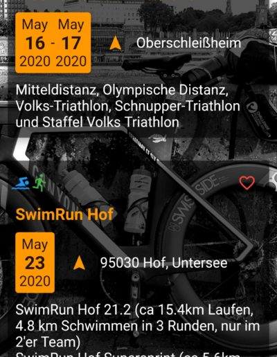 App Entwicklung - Triathlon Termine - Going Tough 8