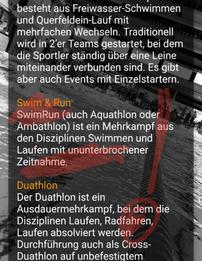 App Entwicklung - Triathlon Termine - Going Tough 10