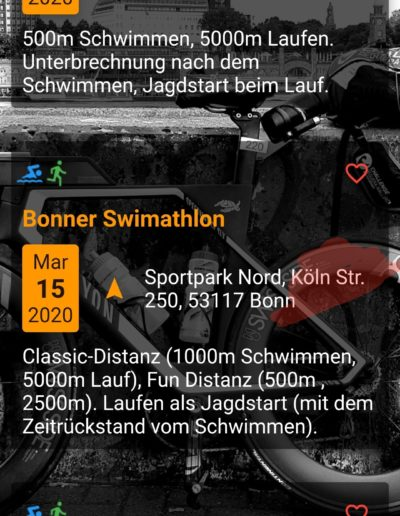 App Entwicklung - Triathlon Termine - Going Tough 11