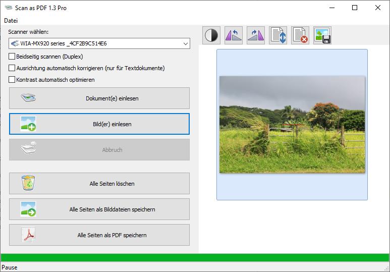Scan as PDF