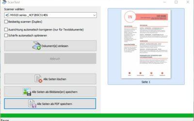 PDF Dokumente vom Scanner erstellen